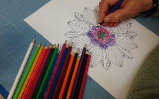 Z życia pracowni plastyczno-rękodzielnicze – kolorowanki antystresowe dla dorosłych